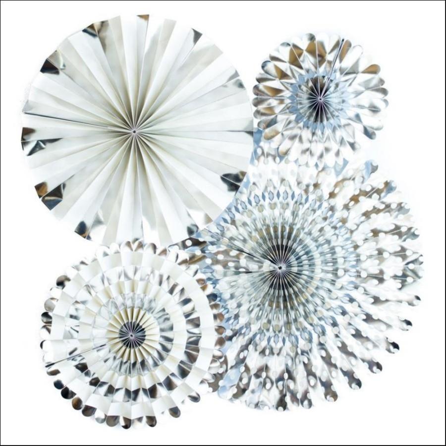 Basics Party Fans!-Silver Foil