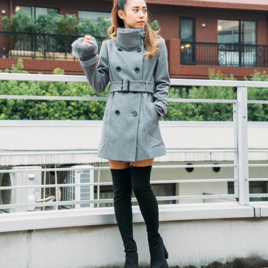 スタンドウールコート