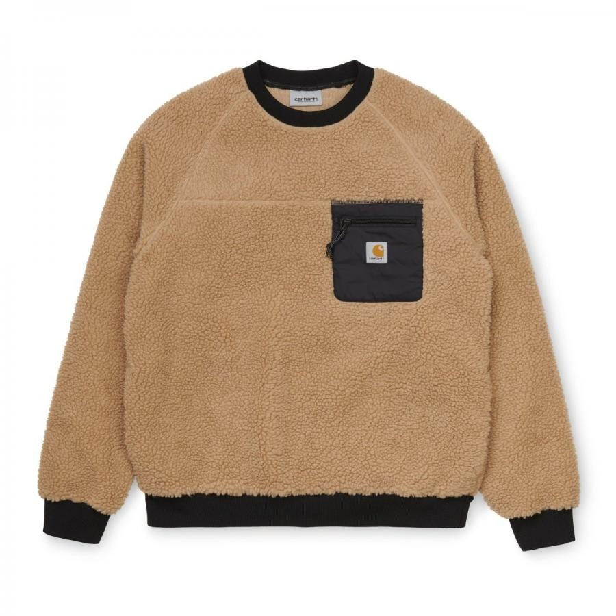 CARHARTTWIP カーハートダブルアイピー I028131 PRENTIS SWEATSHIRT-DUSTY H BROWN