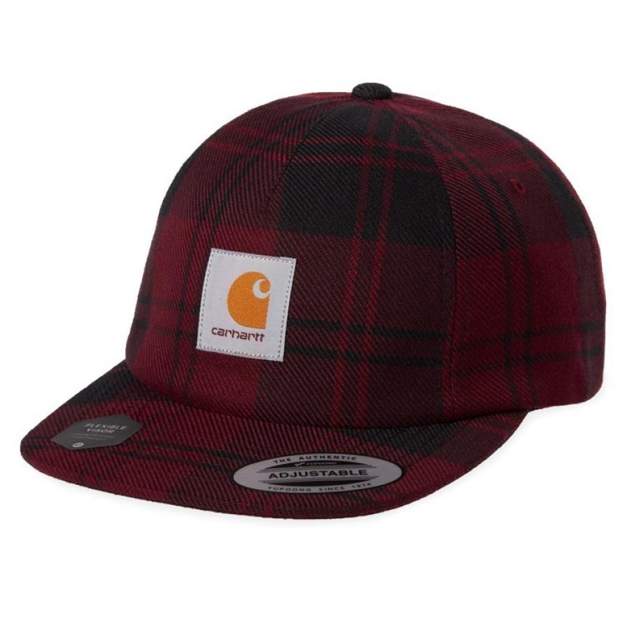 【送料無料】 CARHARTTPULFORD CAP - Pulford Check, Merlot プルフォード キャップ