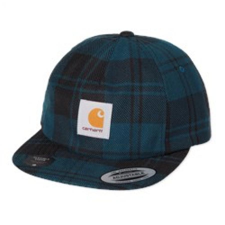 【送料無料】 CARHARTTPULFORD CAP - Pulford Check, Duck Blue プルフォード キャップ