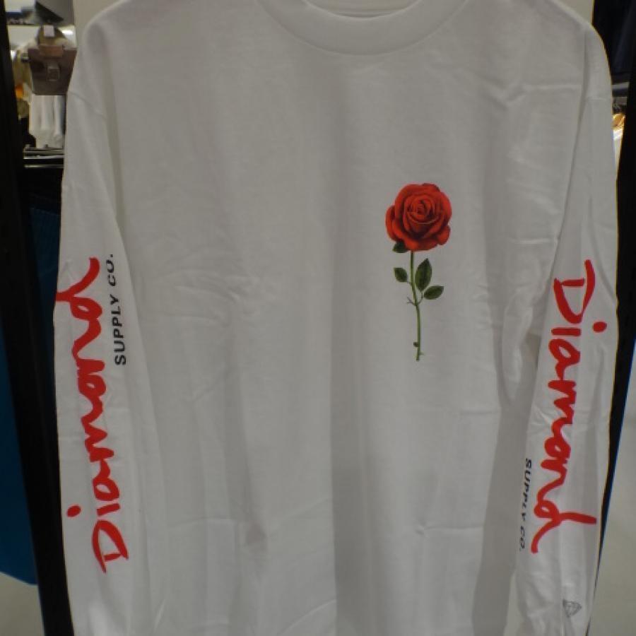 通販送料無料メンズ 長袖 Tシャツ Diamond Supply Co. ダイヤモンド サプライ A19DMPC018 DESI DESIRE L/S TEE