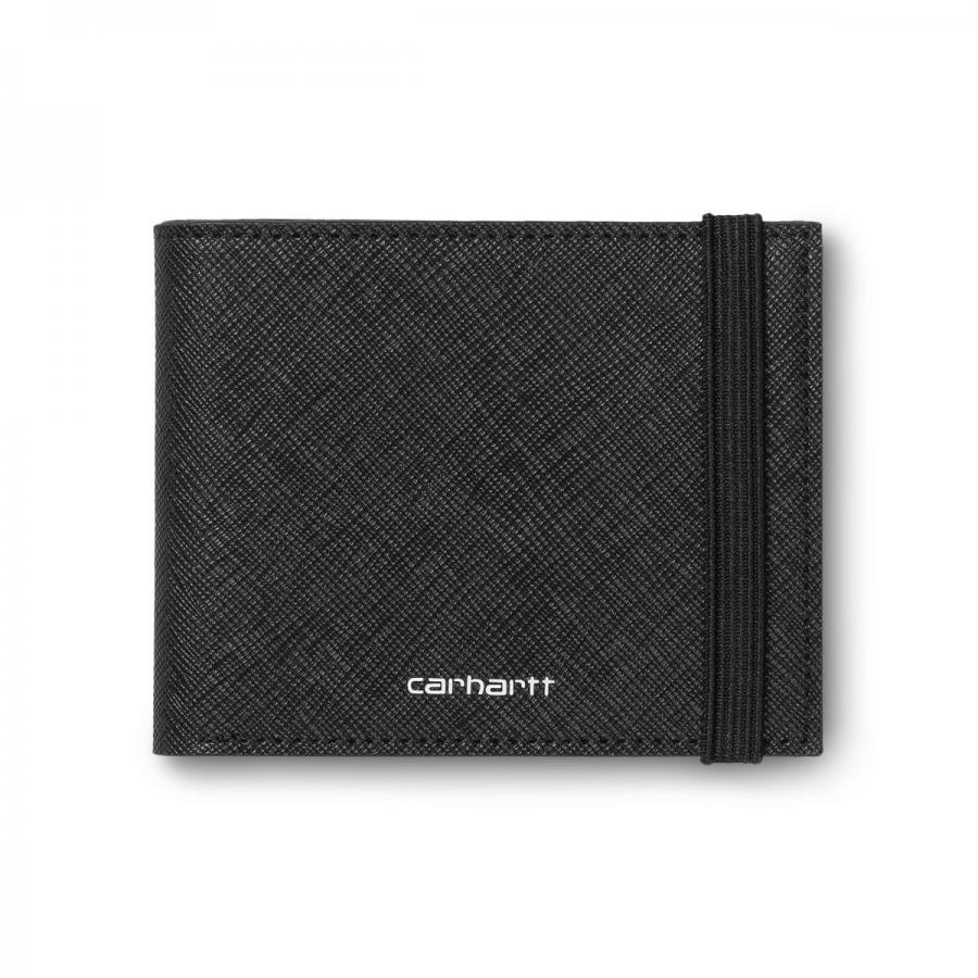 CARHARTTWIP ウォレット COATED BILLFOLD WALLET - Black / White I026210