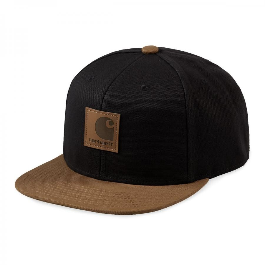 CARHARTTWIP ロゴキャップ バイカラー  LOGO CAP BI-COLORED - Black / Hamilton Brown I023750