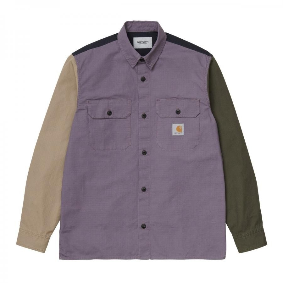 CARHARTTWIP カーハート シャツ L/S VALIANT 4 SHIRT - Provence I029117【ムラサキスタイル】