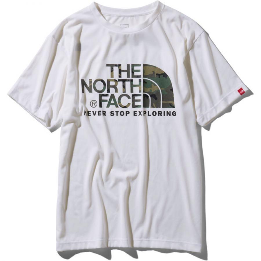 THE NORTH FACE  ザ・ノースフェイス  S/S Camouflage Logo Tee ショートスリーブカモフラージュロゴティー(メンズ)NT31932 (W)ホワイト