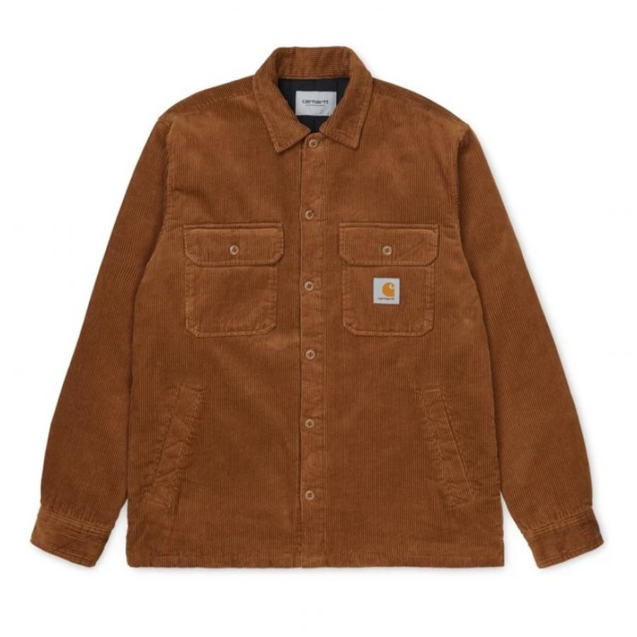 【送料無料】CARHARTTWIP I028827 Whitsome shirt jac Hamilton Brown カーハートダブルアイピー ウィットサム シャツ ハミルトンブラウン