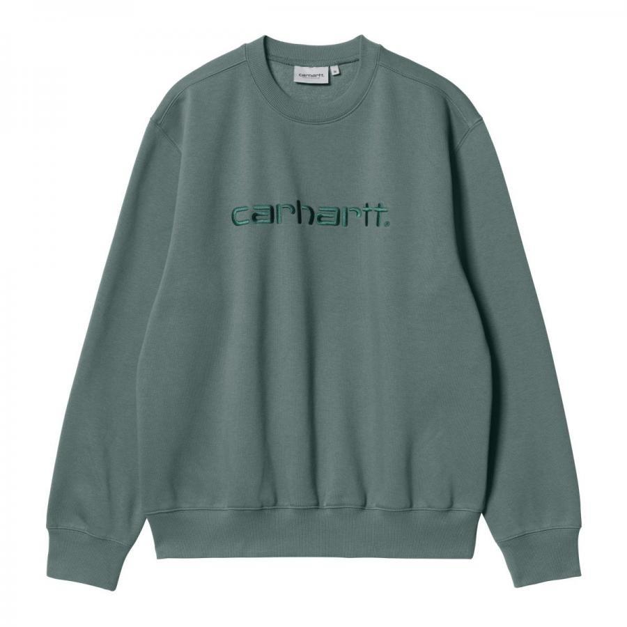 Carhartt カーハート クルー  Carhartt Sweatshirt  カーハート スェットシャツ Eucalyptus/Frasier