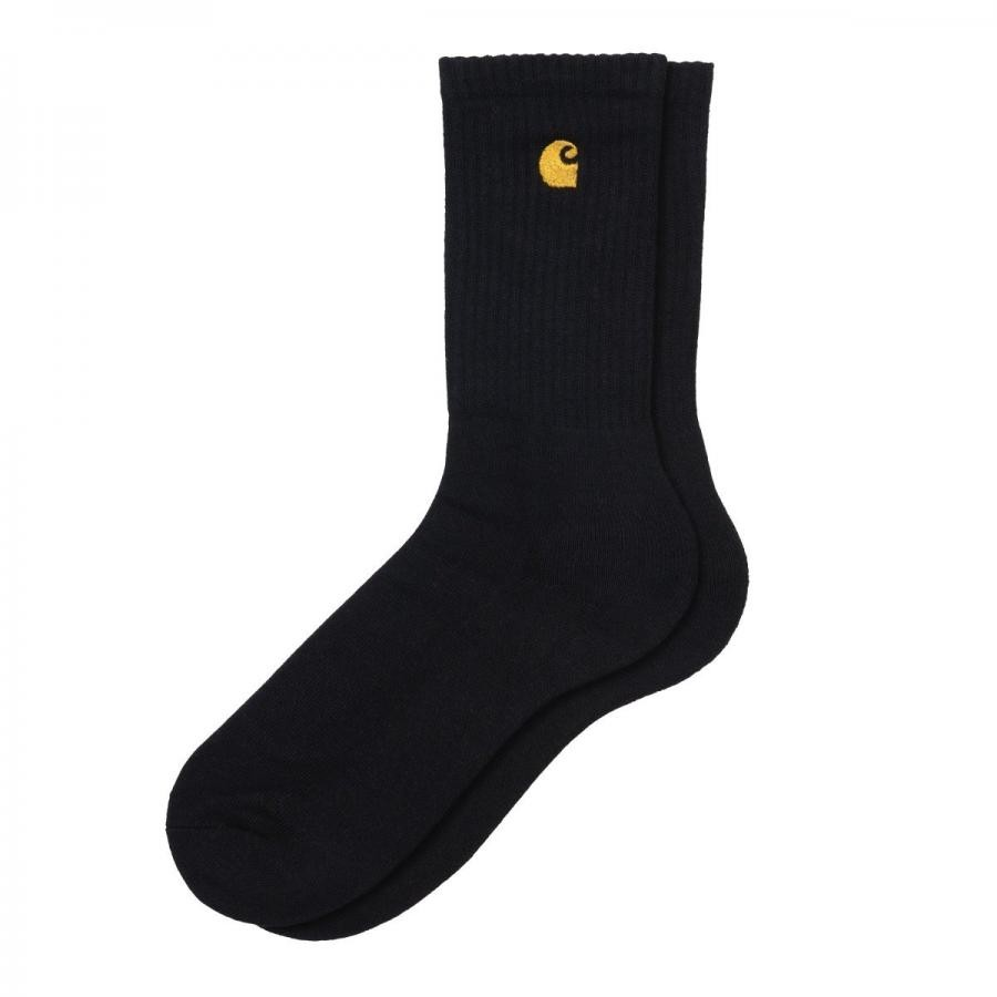 CARHARTTWIP チェイスソックス  CHASE SOCKS - Black / Gold   I029421