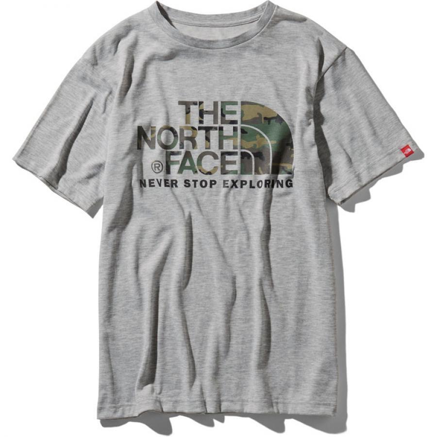 THE NORTH FACE  ザ・ノースフェイス  S/S Camouflage Logo Tee ショートスリーブカモフラージュロゴティー(メンズ)NT31932 (Z)ミックスグレー
