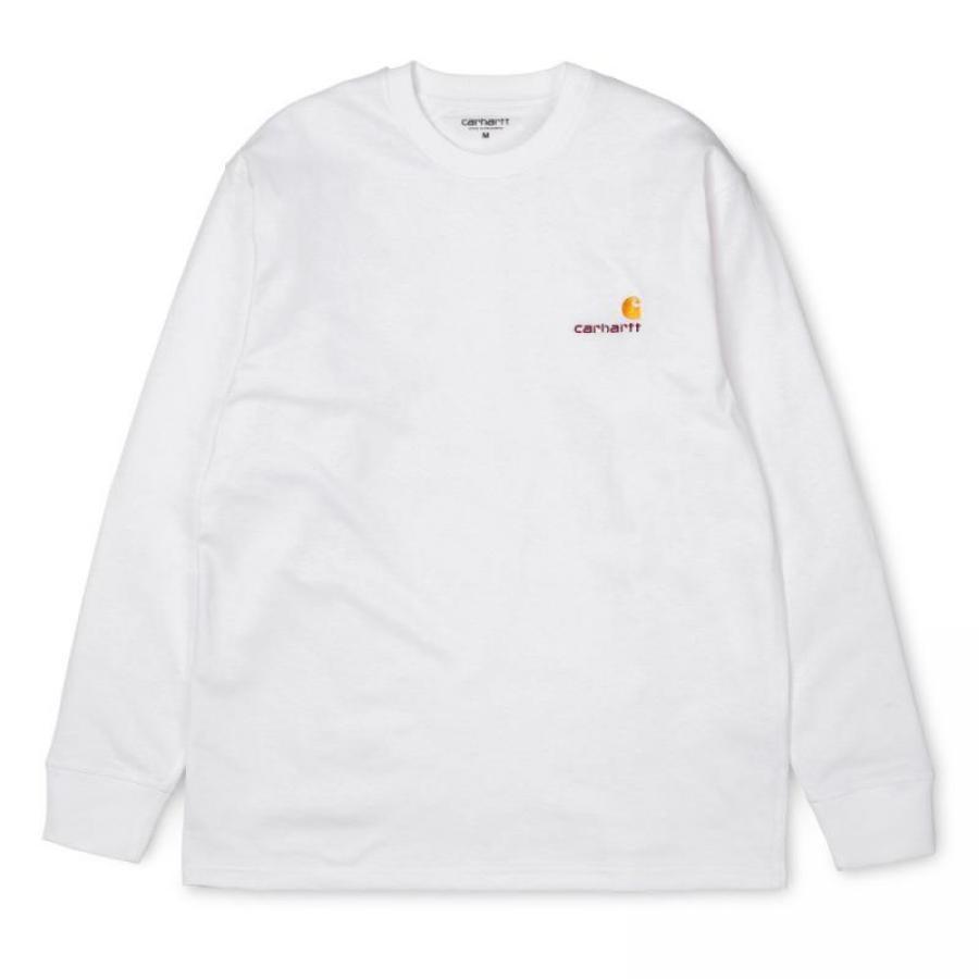 【送料無料】【長袖】  CARHARTT アメリカン スクリプト Tシャツ A182011
