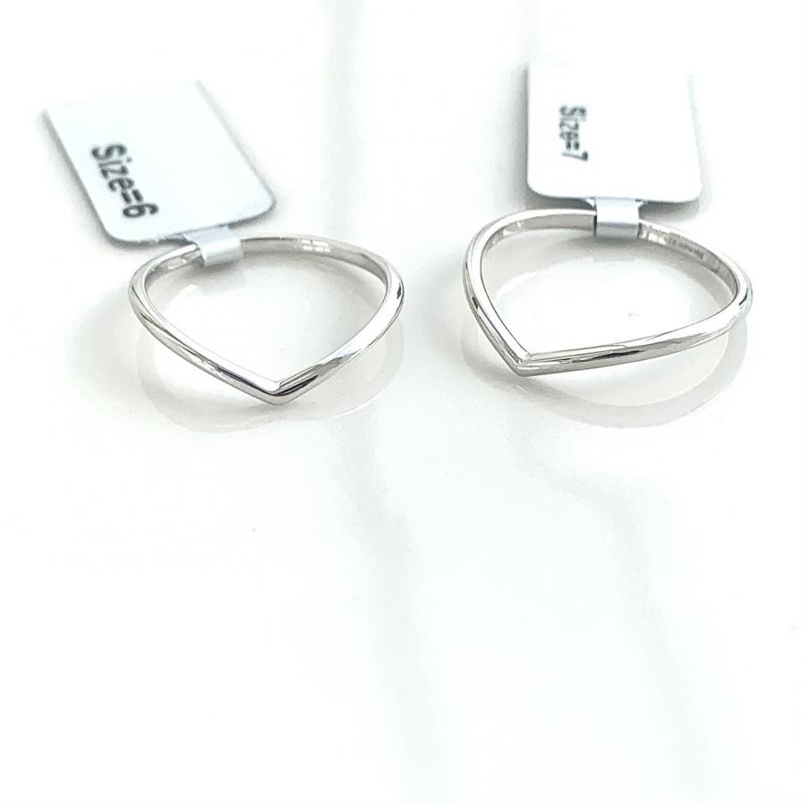 Silver925 simple V ring
