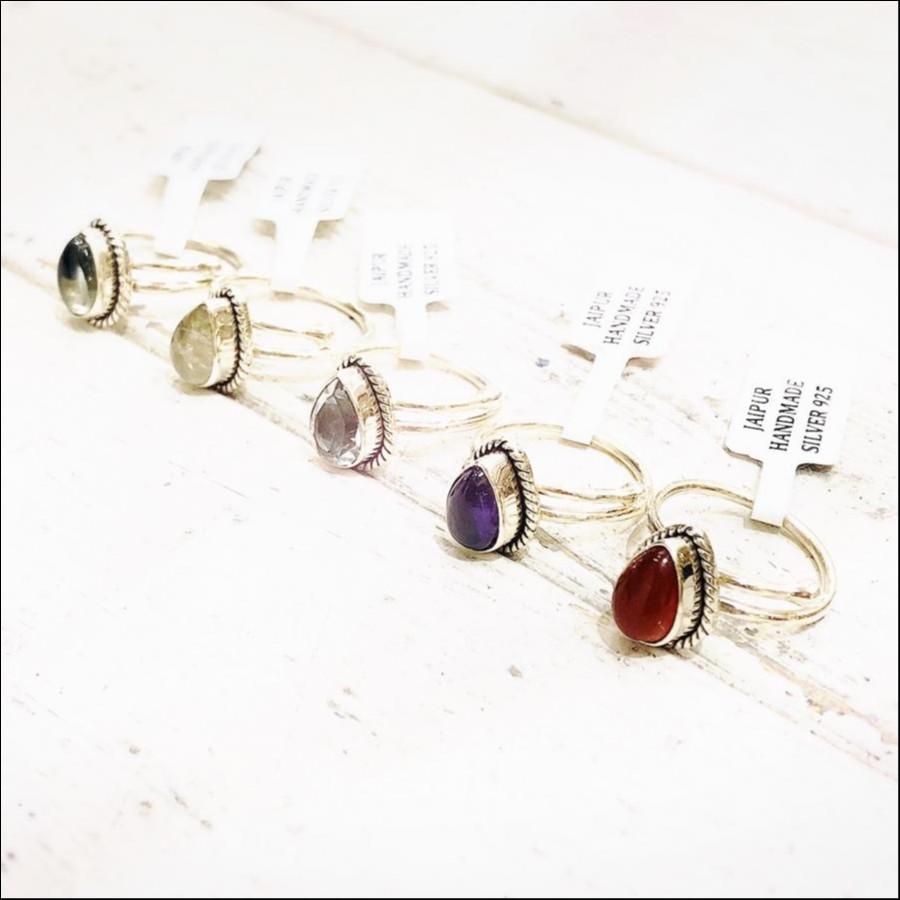 Silver925 drop ring ①