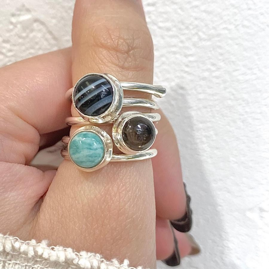 Silver925 Round simple ring②