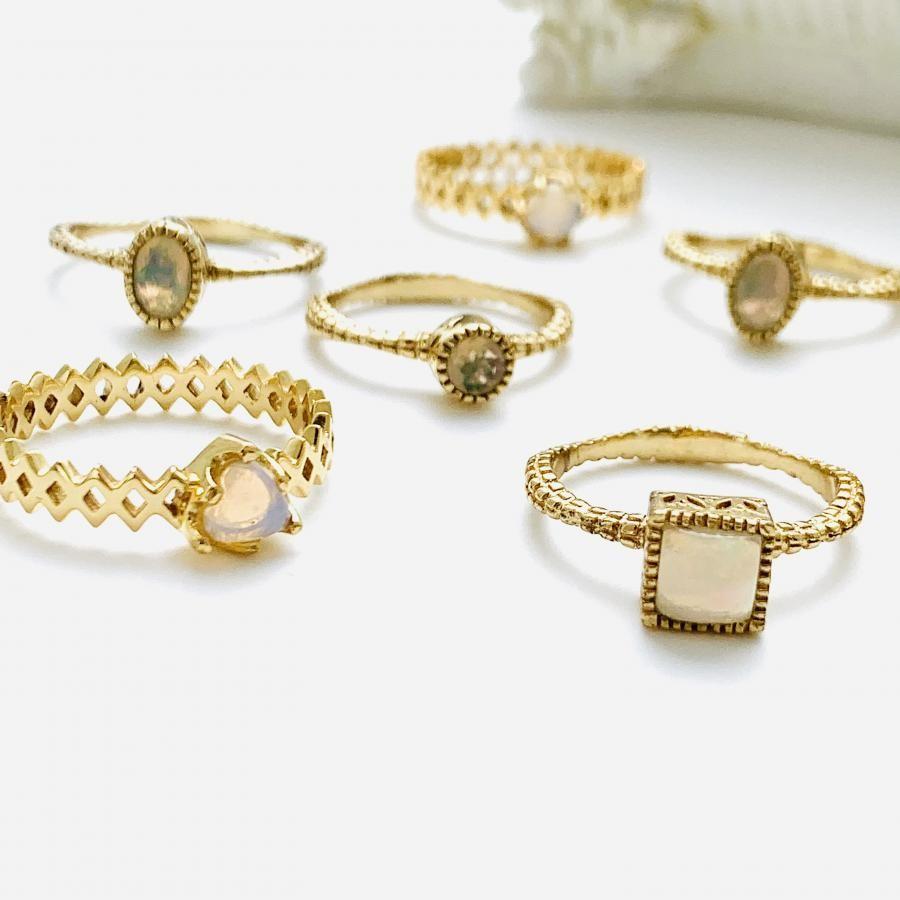 Brass opal design ring1