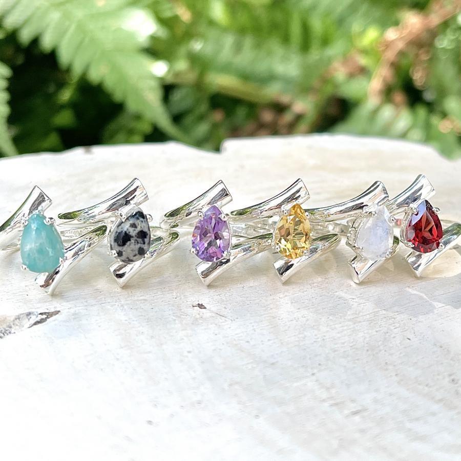 Silver925 drop design ring