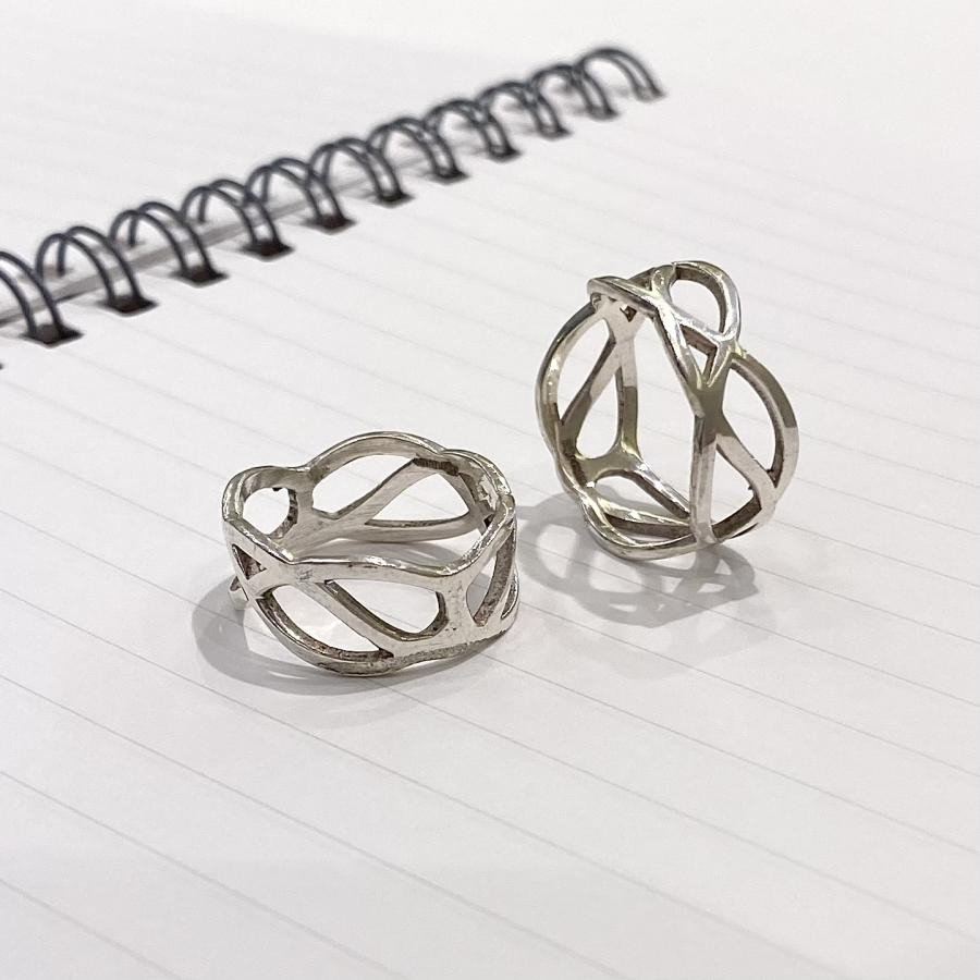 Silver925 plain ring 28