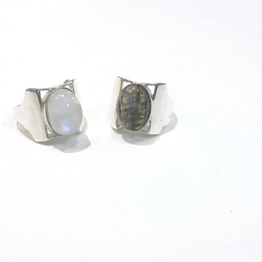 silver925 Design ring*石2種類*