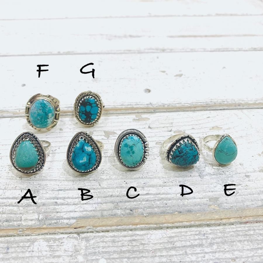 Silver925 Turquoise ring③