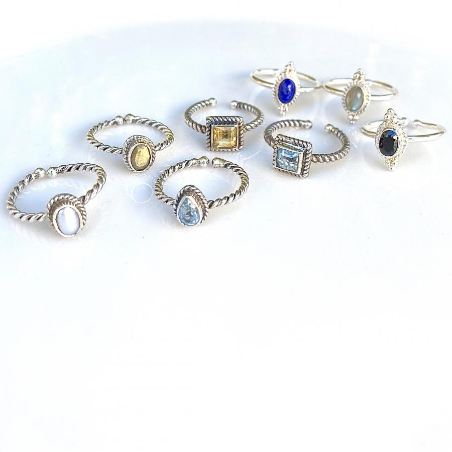 silver925 petit ring〈3type〉