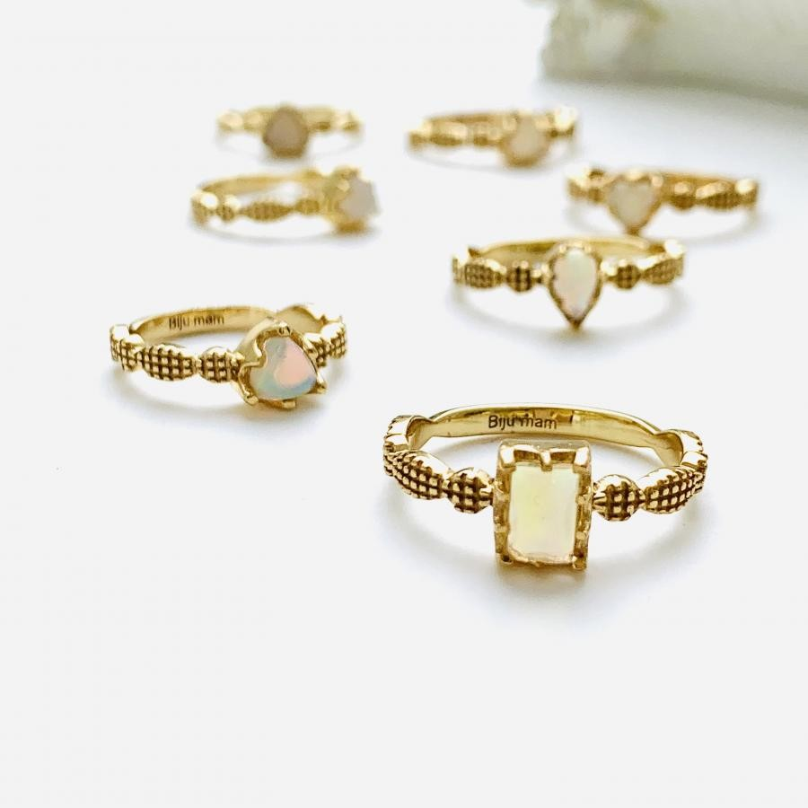 Brass opal design ring2