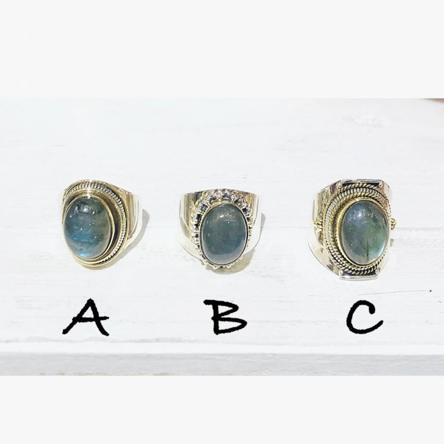 Connect ring Labradorite A-C