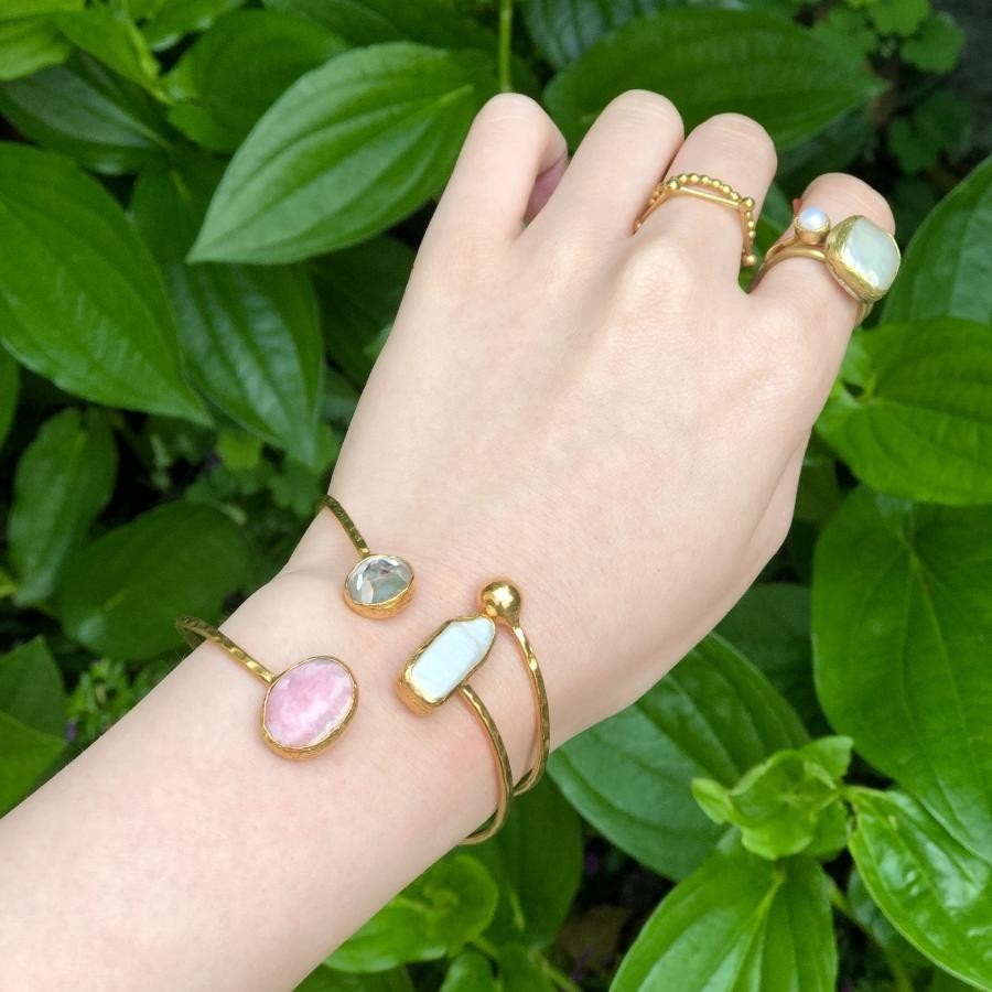Brass bangle set②