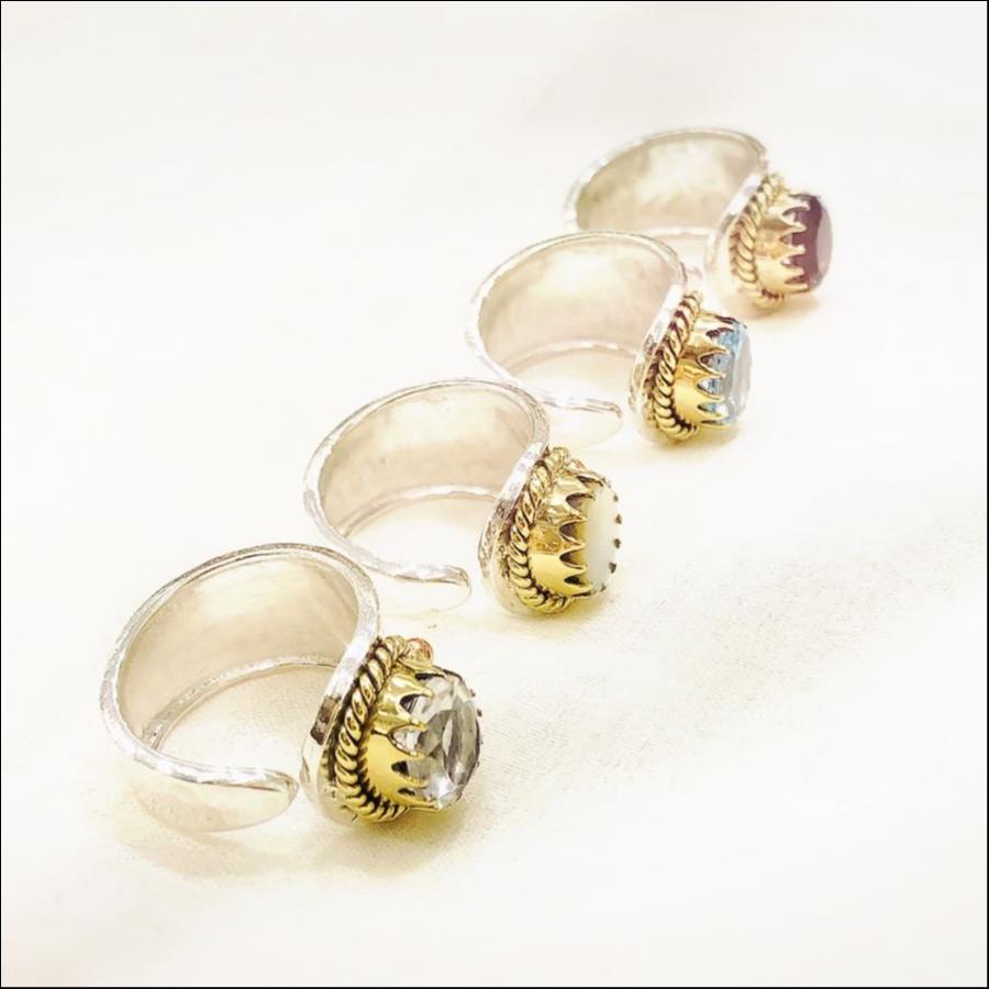 crystal cuff ring【福岡限定ring】