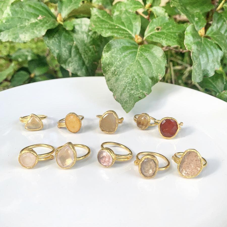 Brass 1stone ring