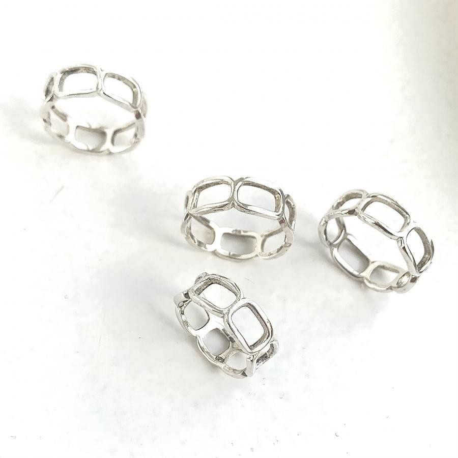 Silver925 simple ring13