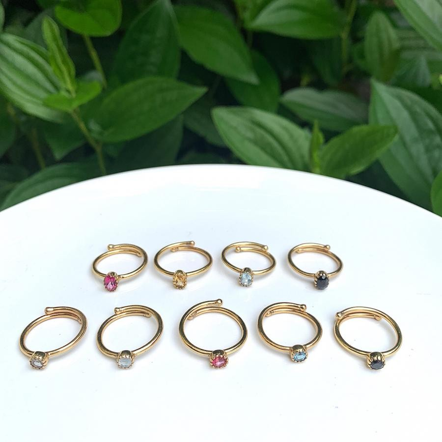 Brass petit ring 2type〈Round,Oval〉