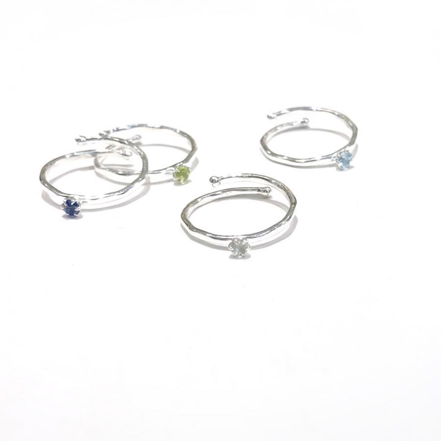 新作☆Silver925 mini stone ring