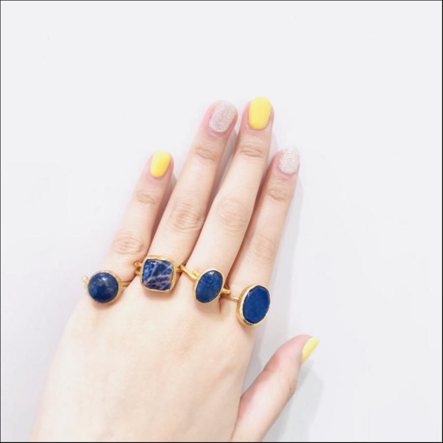 Bijumam Navy Blue ring
