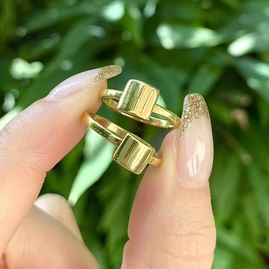 Brass simple ring 4