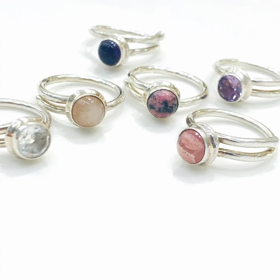 Silver925 1stone ring②