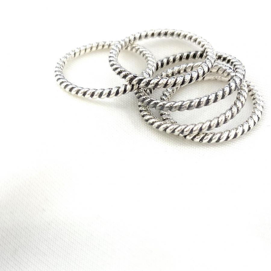 Silver925 plain ring 15