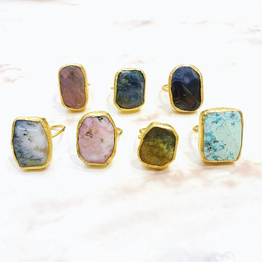 天然石1stone ring③