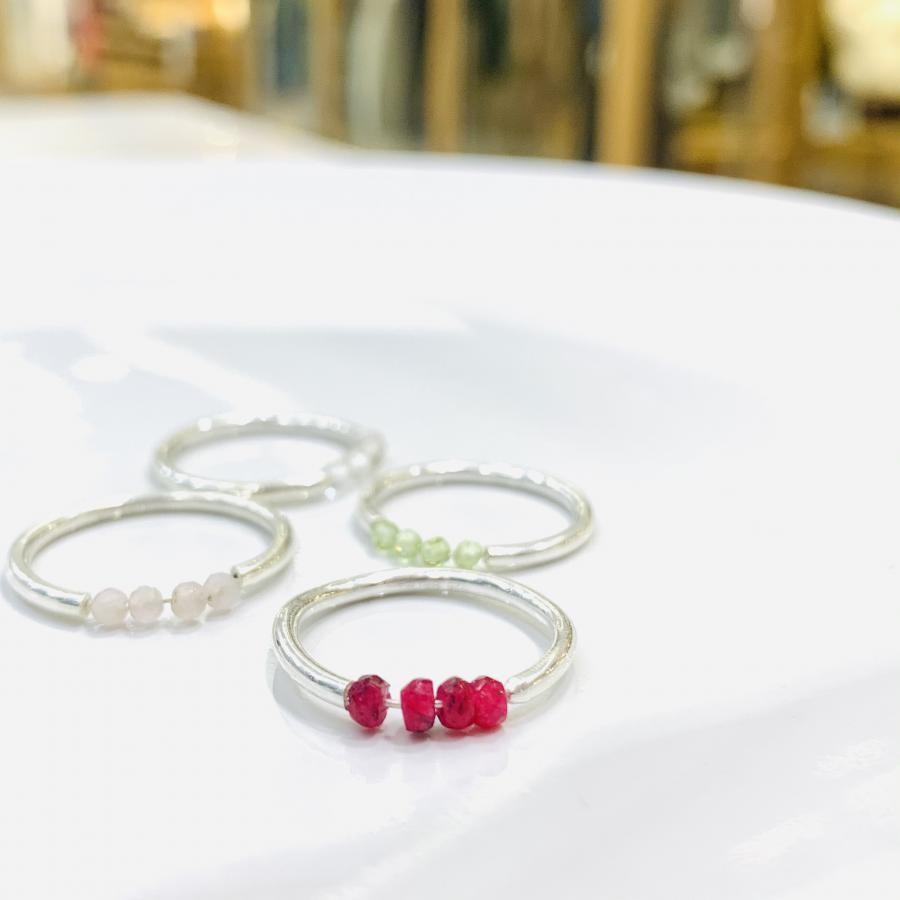Beads 4stone ring①
