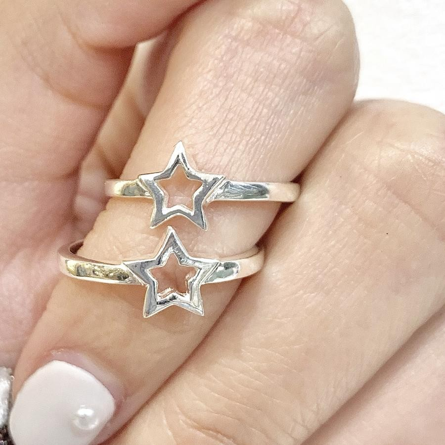Silver925 simple star ring