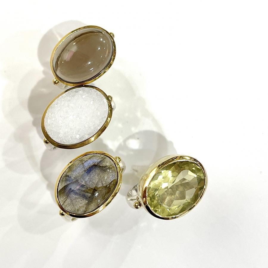 Silver925×Brass design ring 2