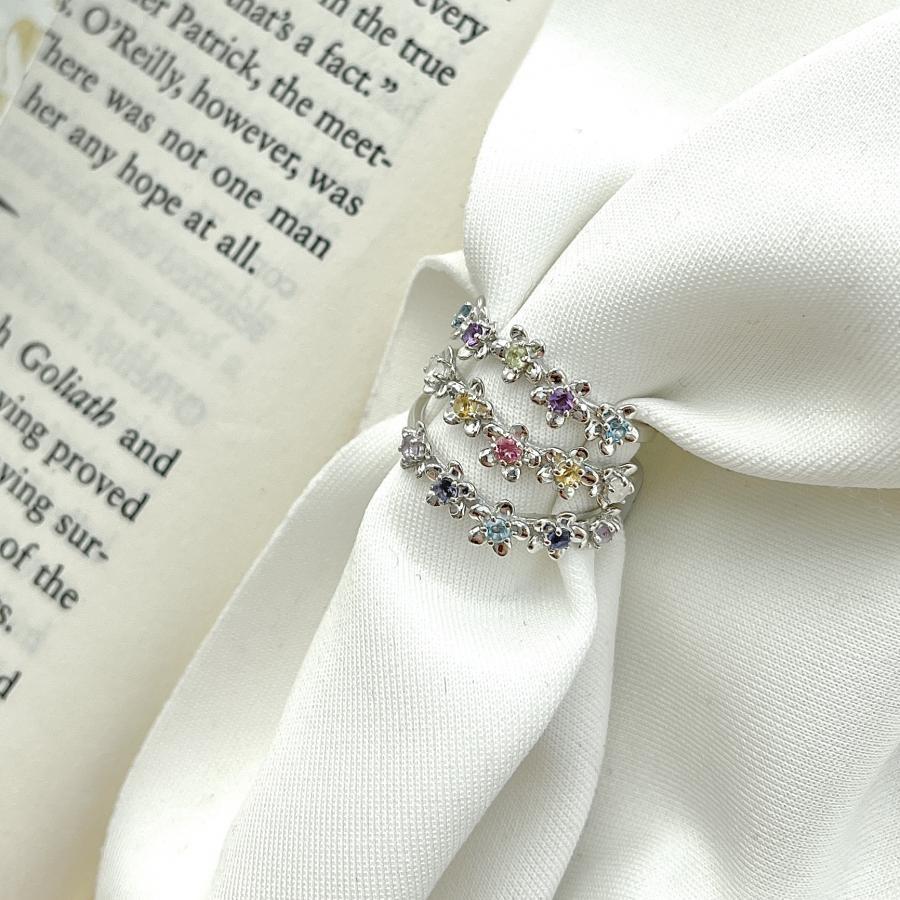 5stone flower ring