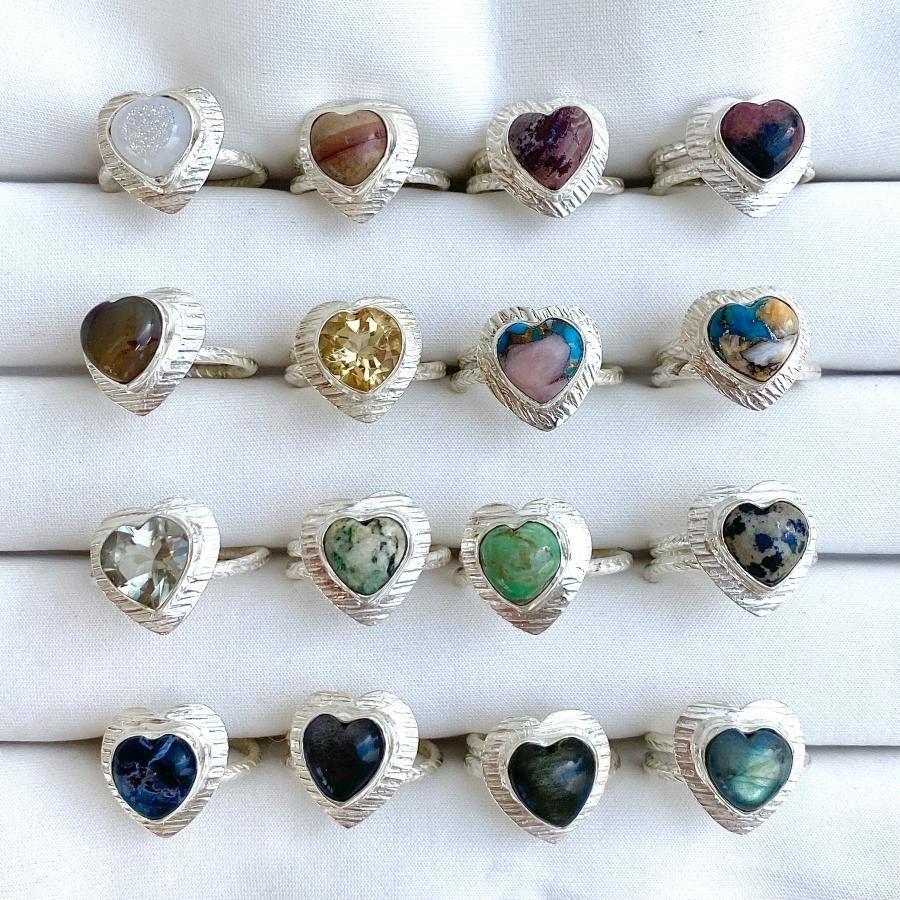 Silver925 heart ring 10