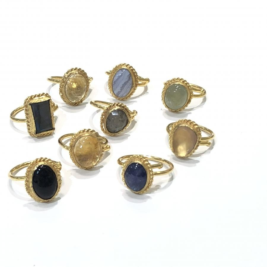 Brass Button ring