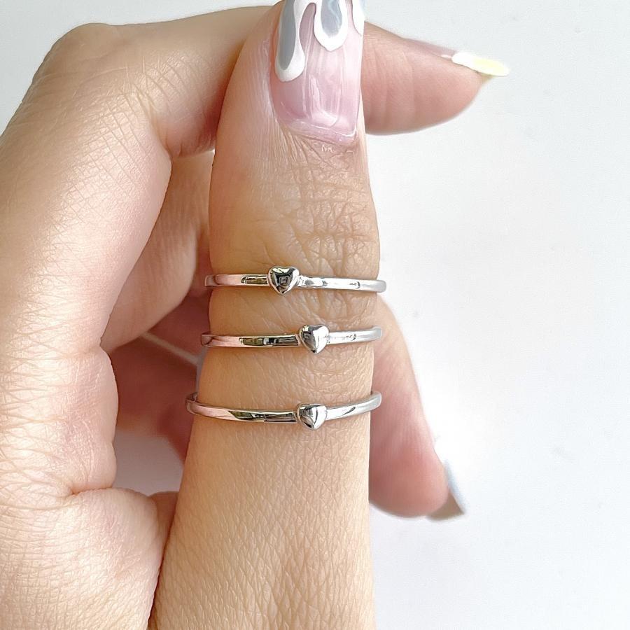 Silver925 tiny heart ring