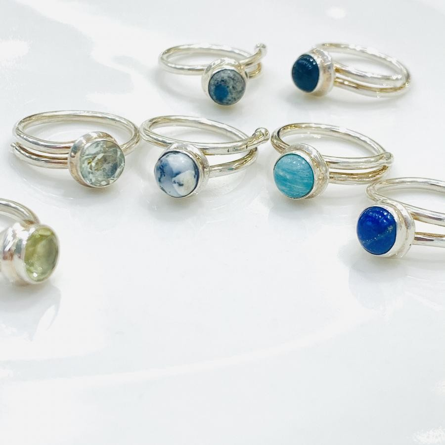 Silver925 1stone ring①