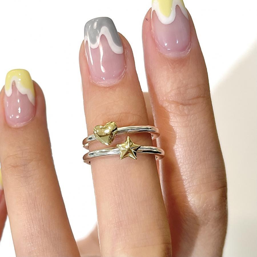 Heart♡Star⭐︎ plain ring