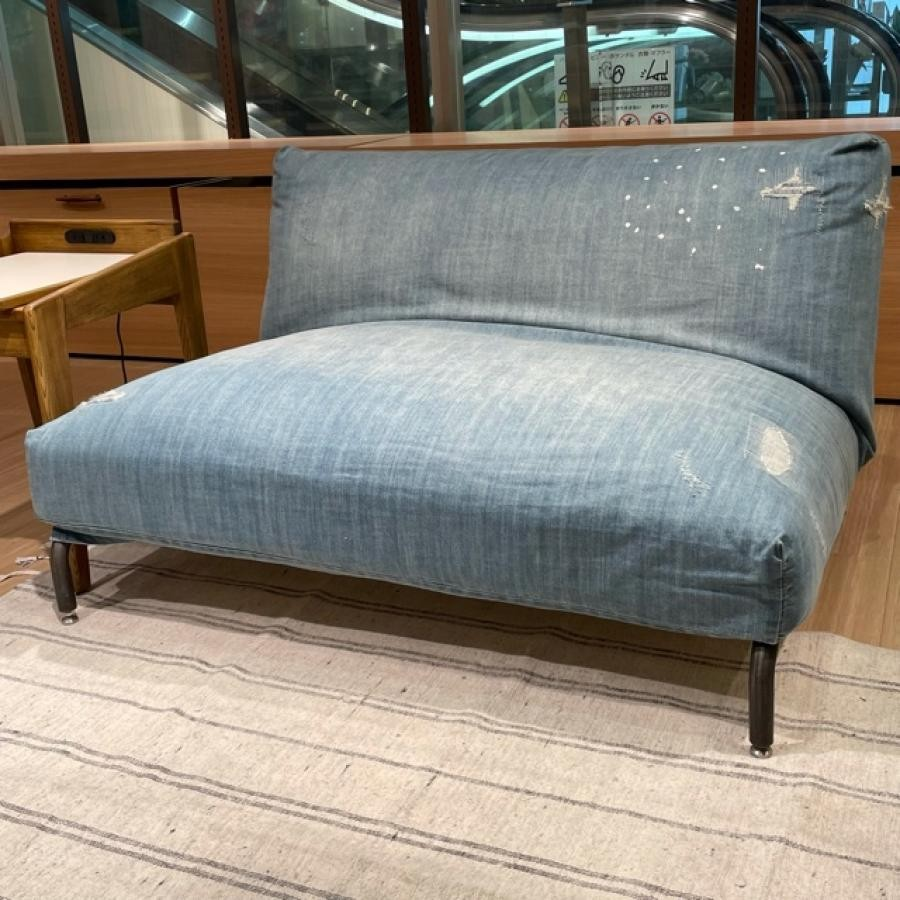 【GARAGE SALE】《journal standard Furniture》RODEZ SOFA 2P NUDE&Damage DENIM COVER 家具