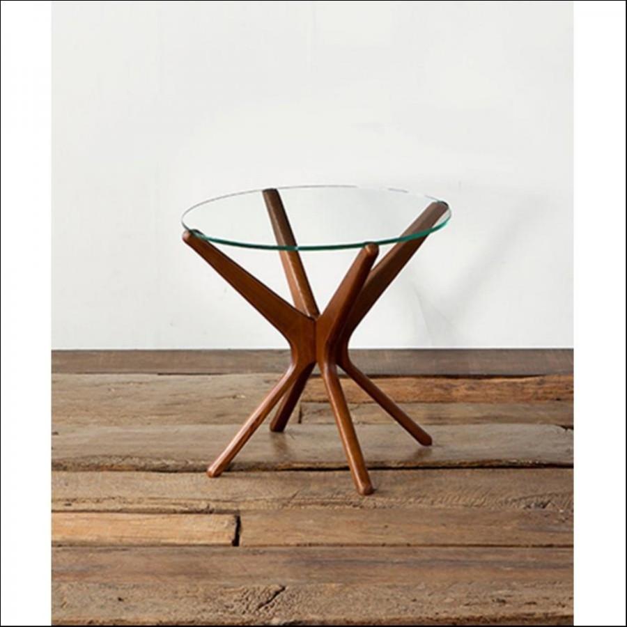 【SALE】ACME TRESTLES SIDE TABLE CLR