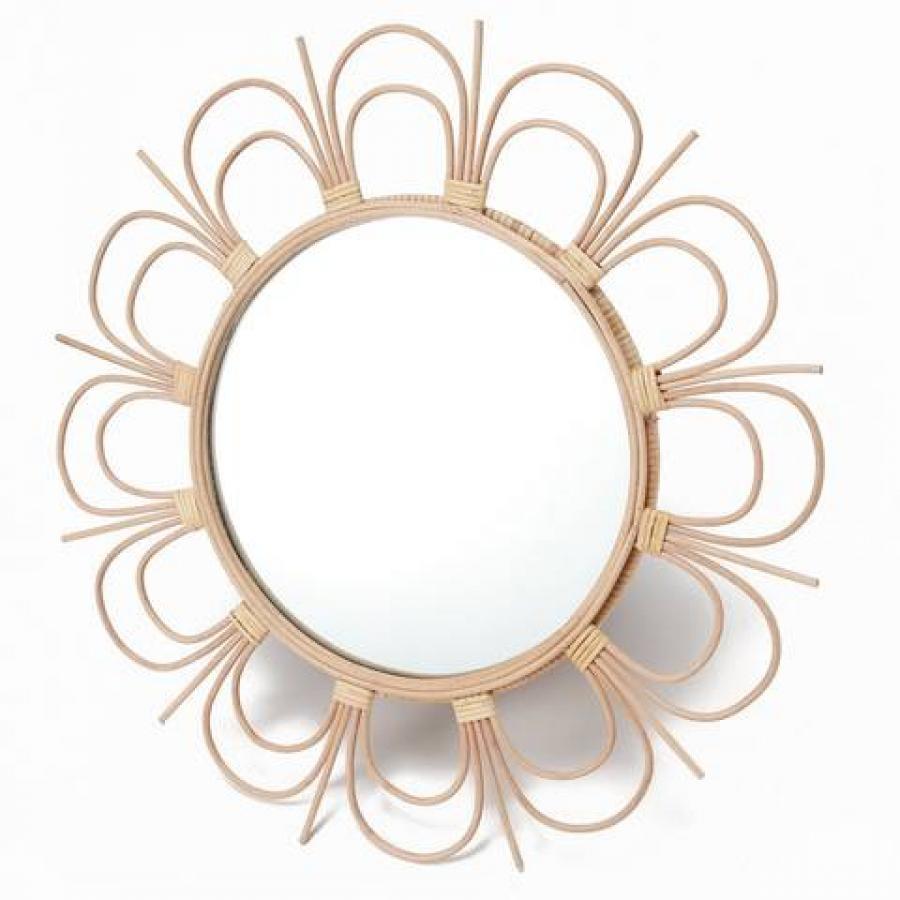 rotta rattan mirror fleur L