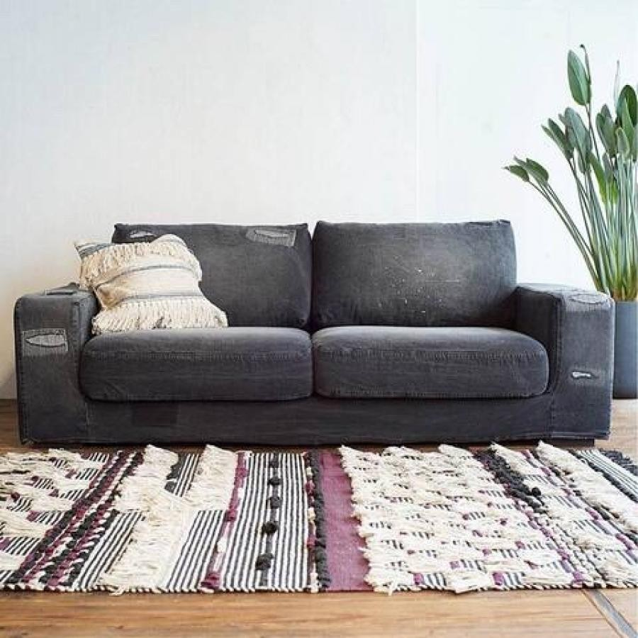 【30%OFF】FRANKLIN SOFA BLACK Damage DENIM 家具